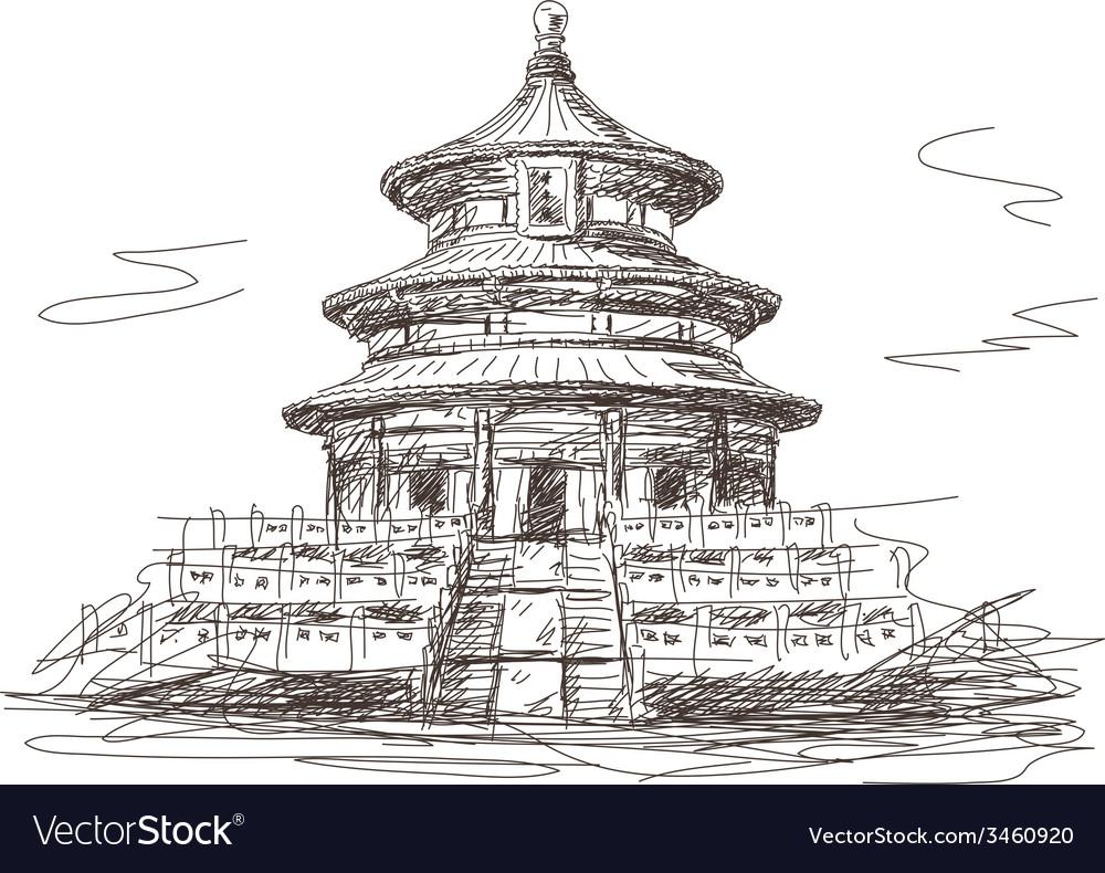Temple of heaven in beijing vector | Price: 1 Credit (USD $1)
