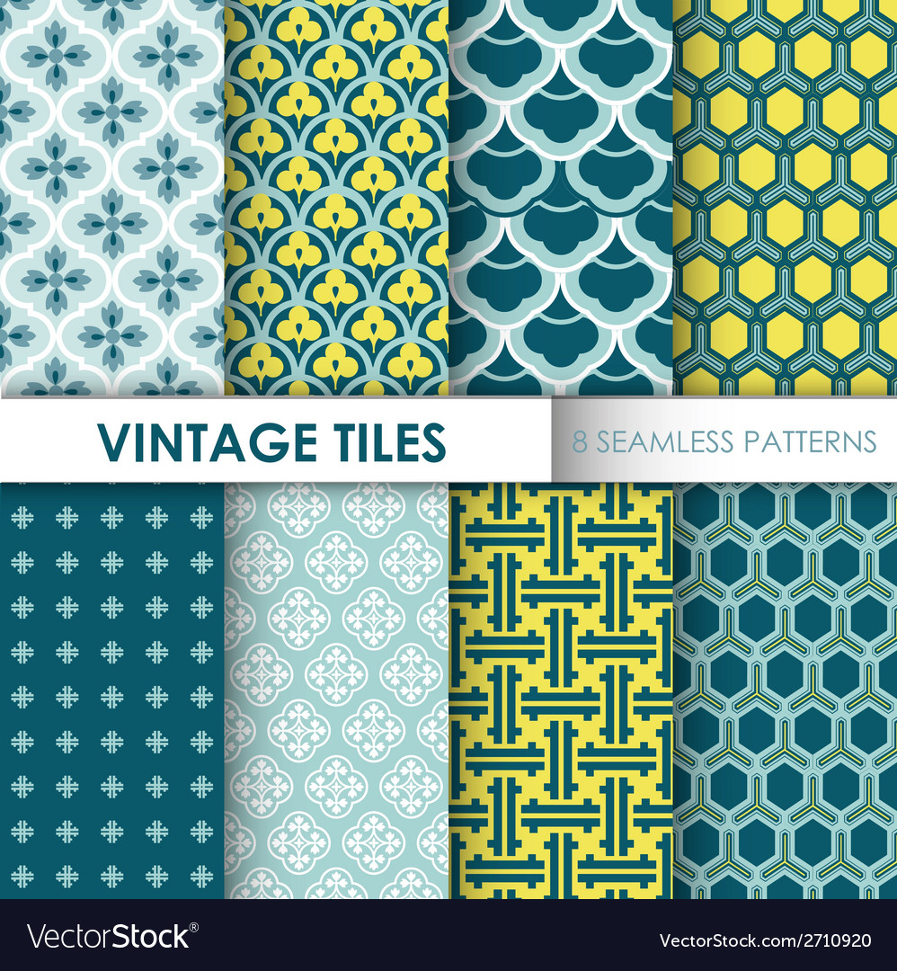 Vintage tile backgrounds vector | Price: 1 Credit (USD $1)