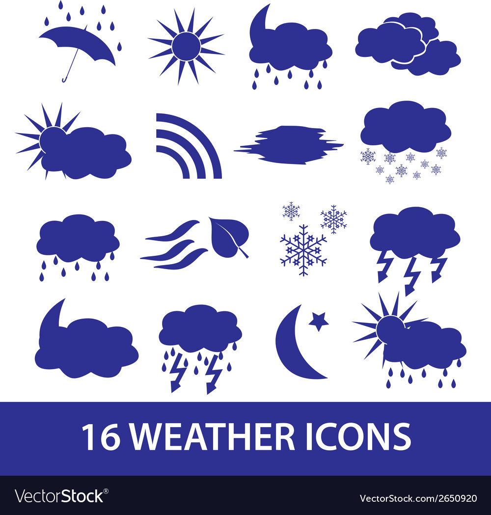 Weather icons set eps10 vector | Price: 1 Credit (USD $1)