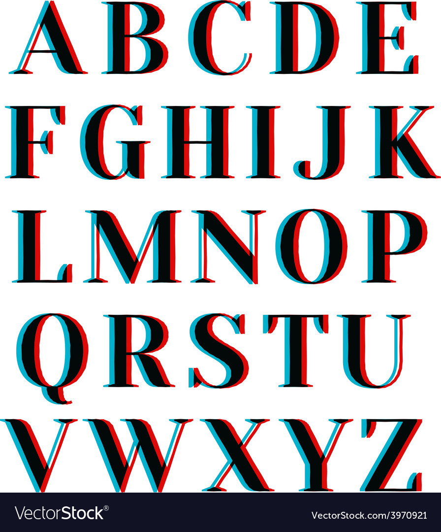 Abstract alphabet vector | Price: 1 Credit (USD $1)