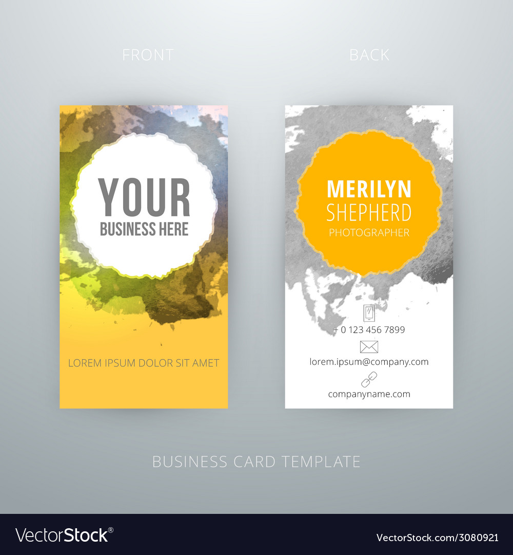 Abstract creative business card template eps10 vector | Price: 1 Credit (USD $1)