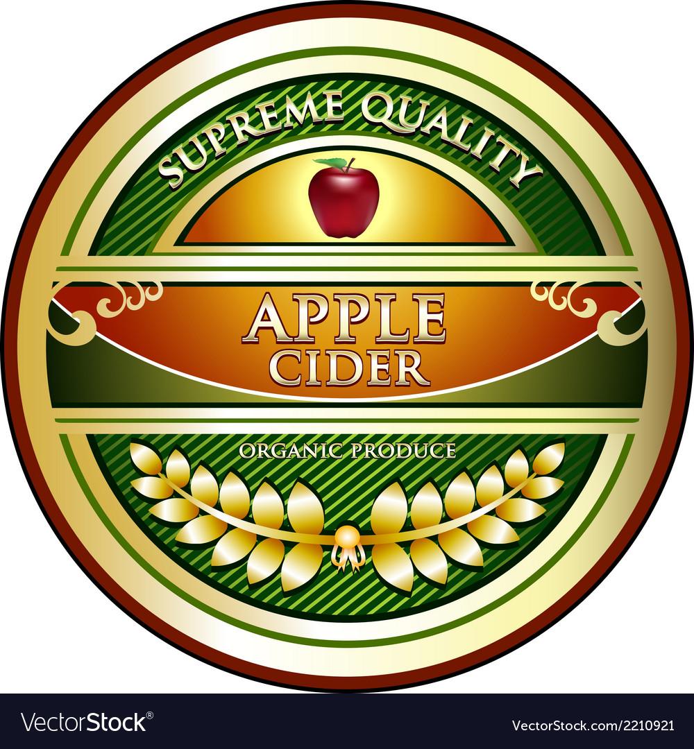 Apple cider vintage label vector | Price: 1 Credit (USD $1)