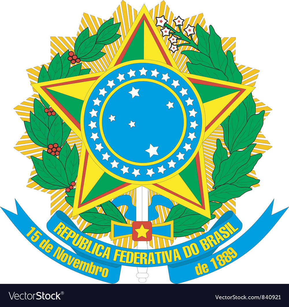 Coat of arms of brazil vector | Price: 3 Credit (USD $3)