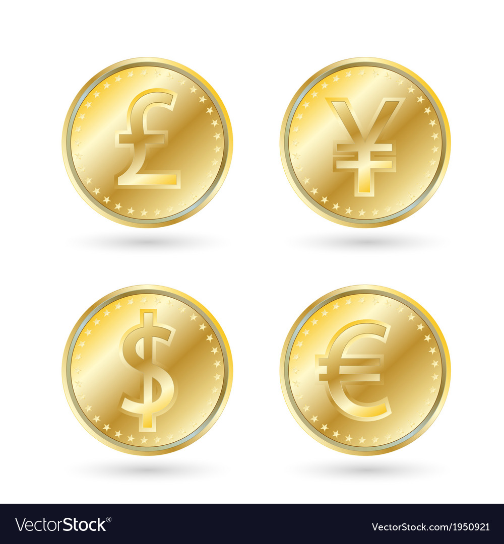 Currency symbols gold coin vector   Price: 1 Credit (USD $1)
