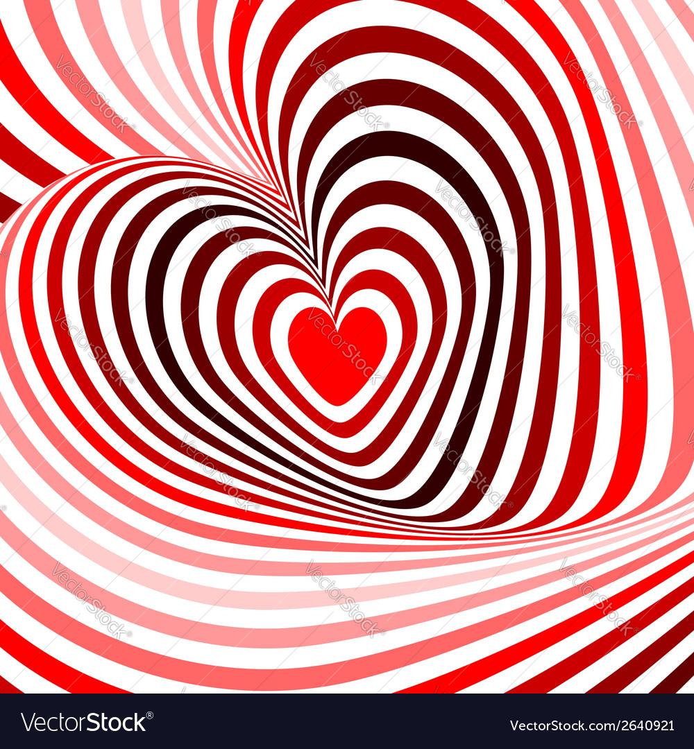 Design hearts twisting movement background vector | Price: 1 Credit (USD $1)