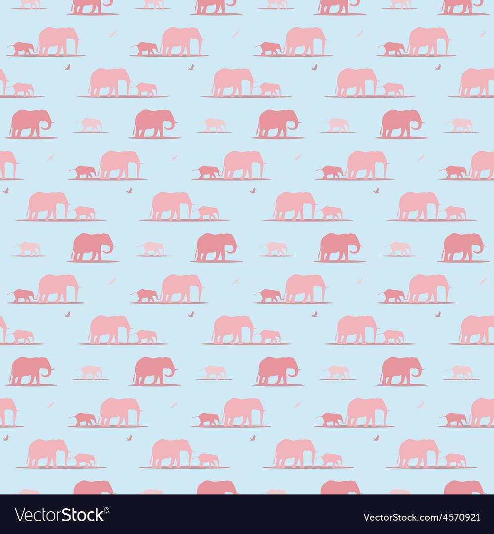 Elephants wallpaper vector | Price: 1 Credit (USD $1)