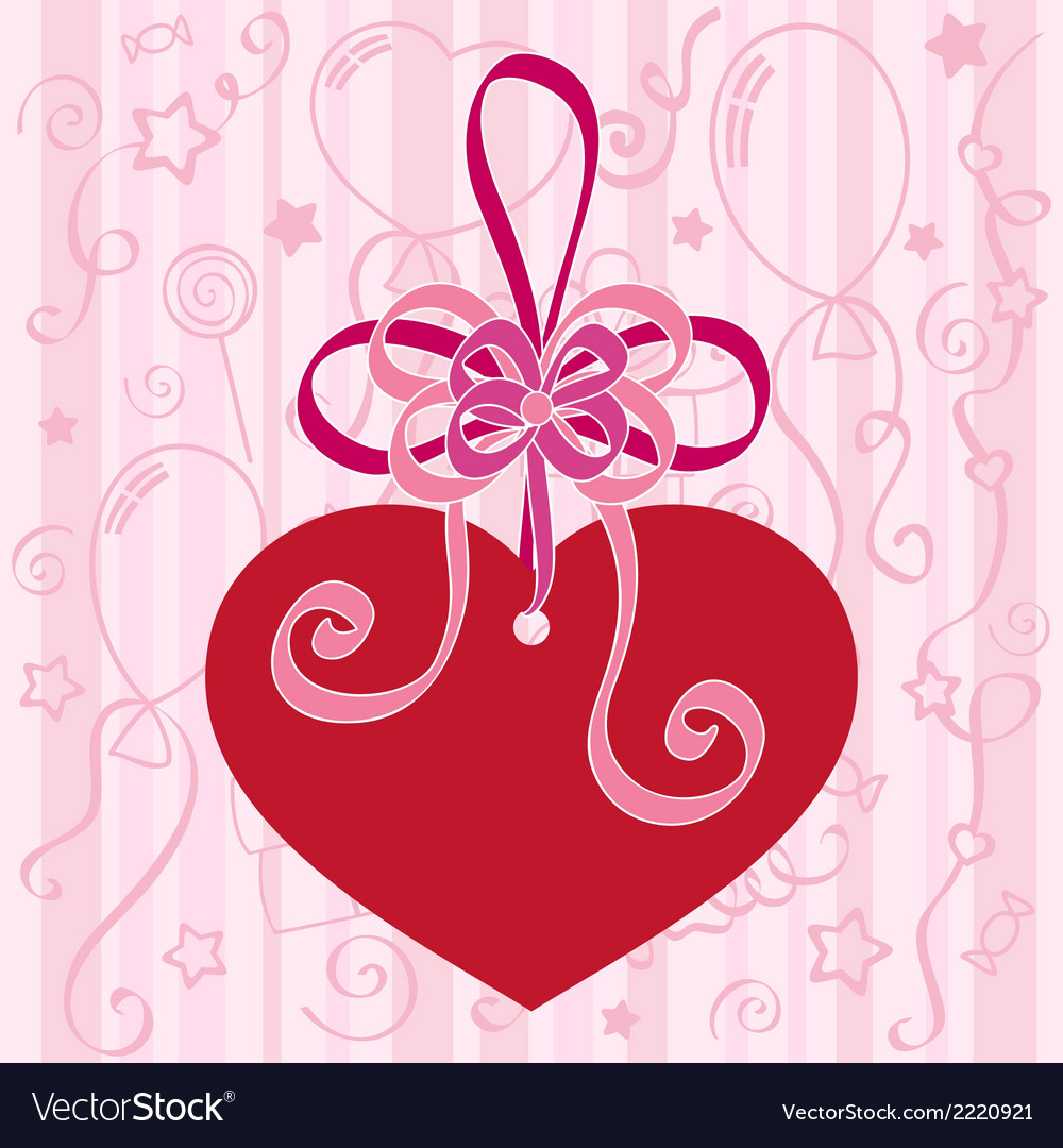 Festive background with heart vector | Price: 1 Credit (USD $1)