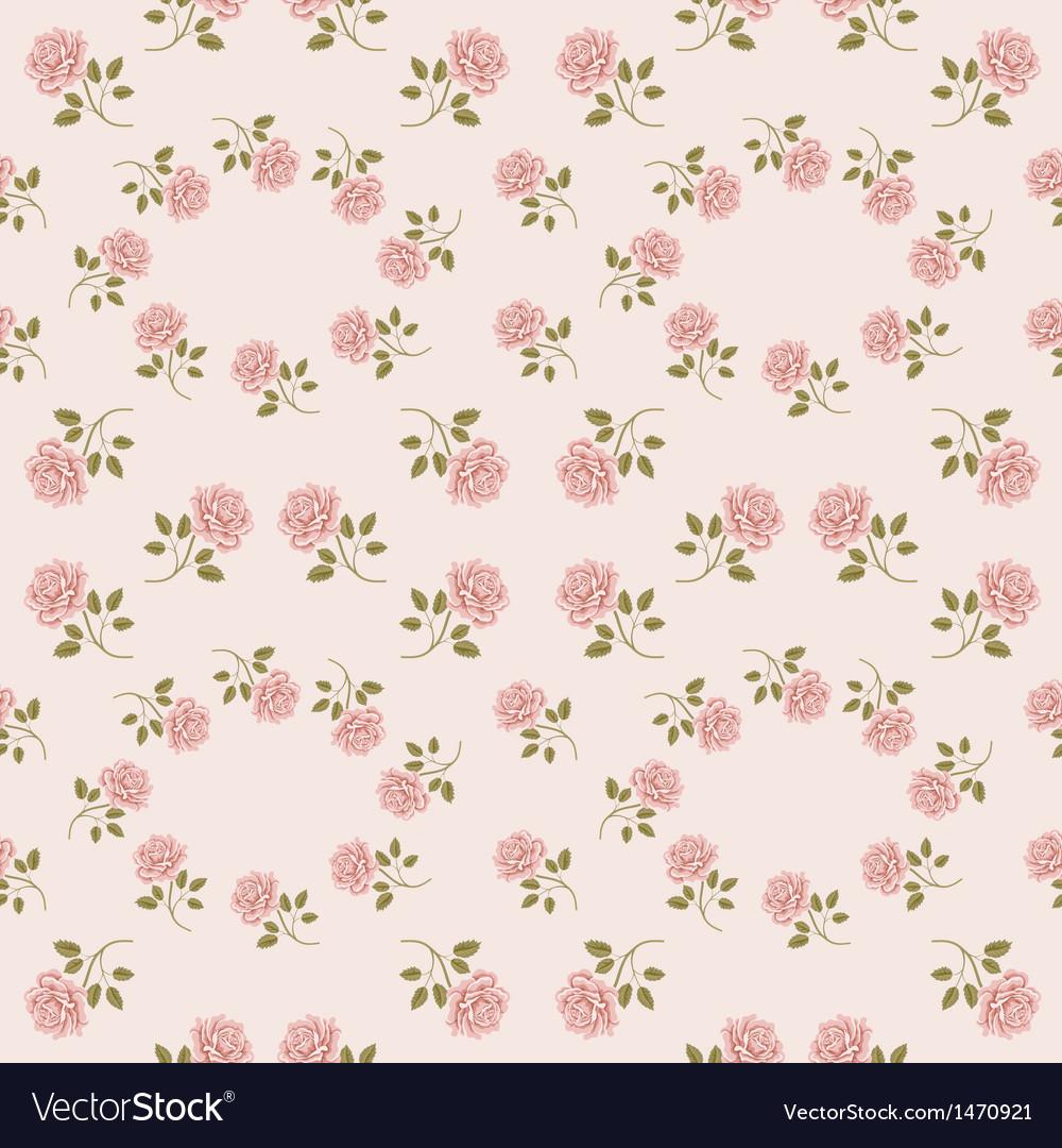 Pink vintage rose pattern seamless vector | Price: 1 Credit (USD $1)