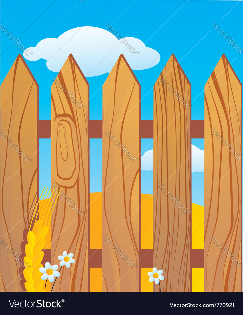Rustic wooden fence vector   Price: 3 Credit (USD $3)