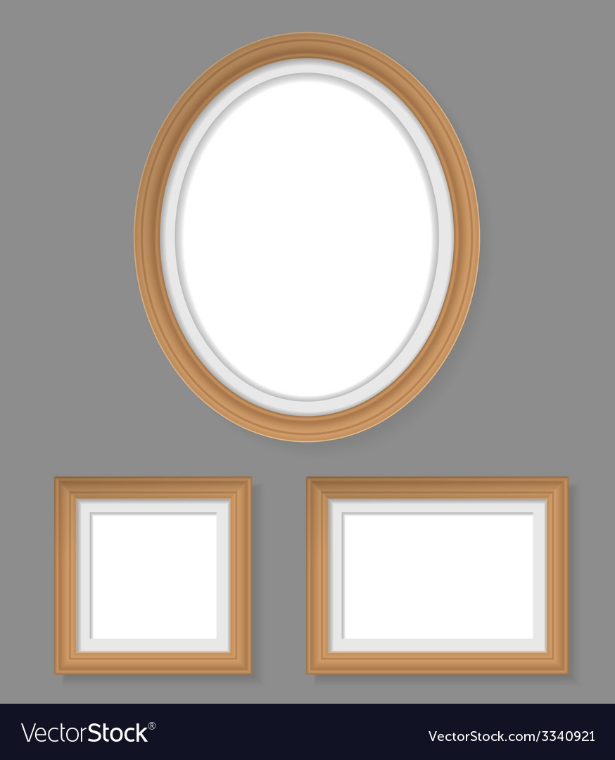 Set of wooden frames vector | Price: 1 Credit (USD $1)