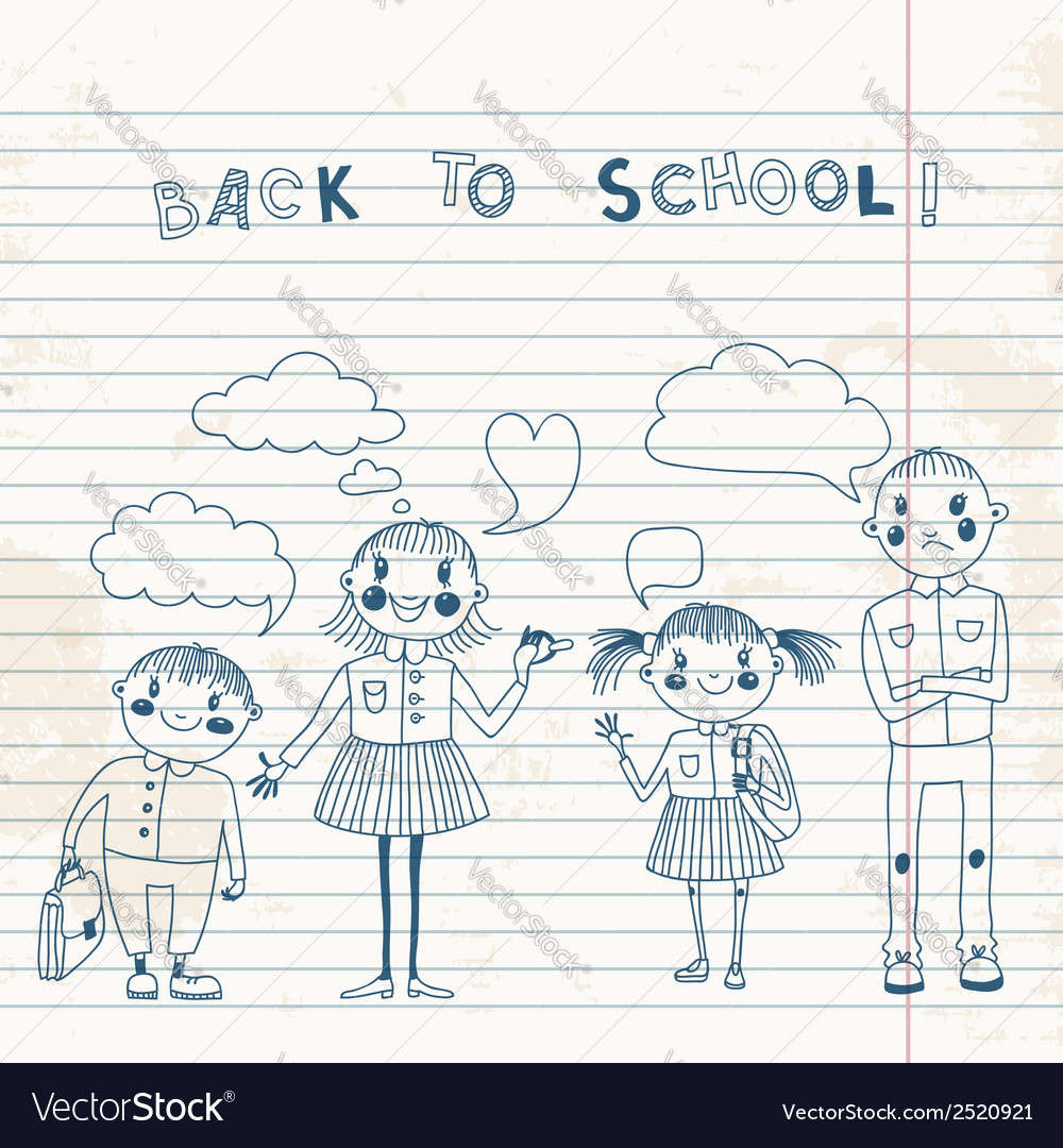 The students of the school vector | Price: 1 Credit (USD $1)