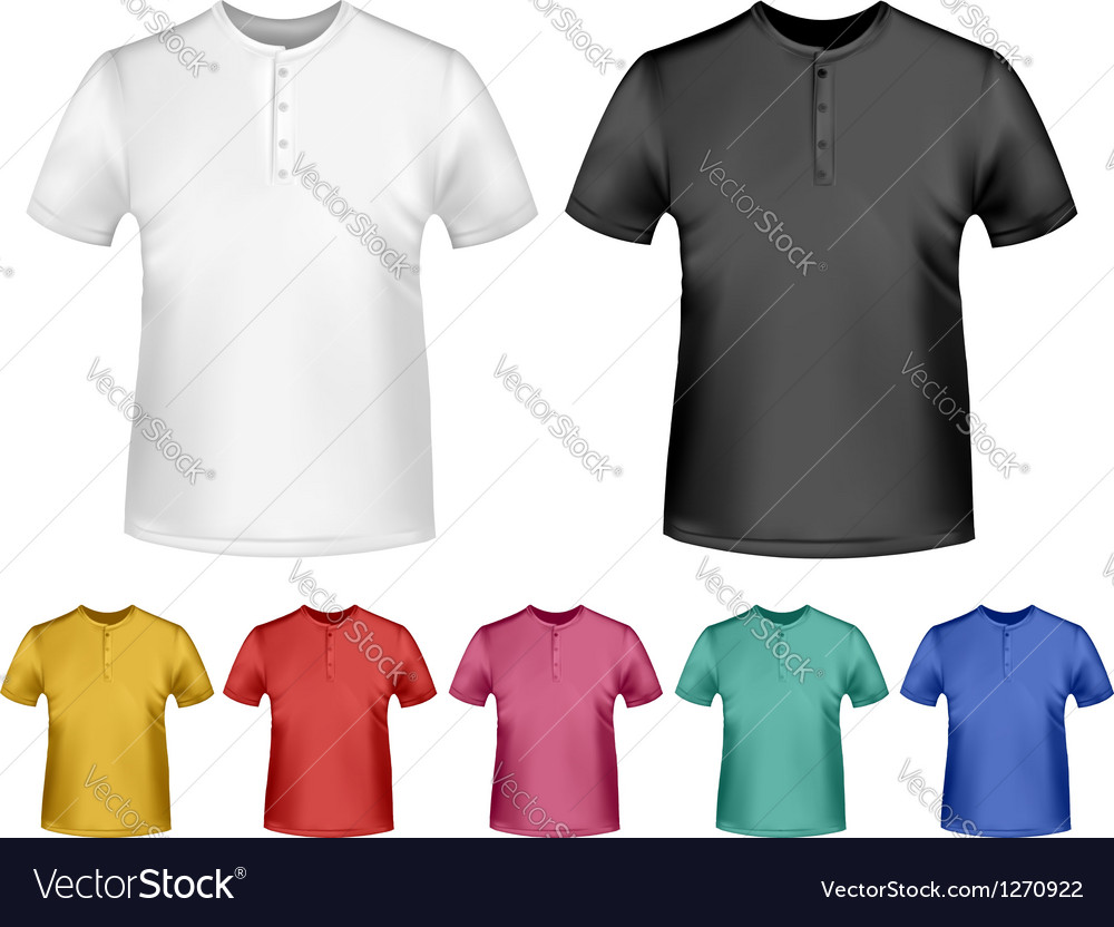 Black and white and color men polo t-shirts design vector | Price: 1 Credit (USD $1)
