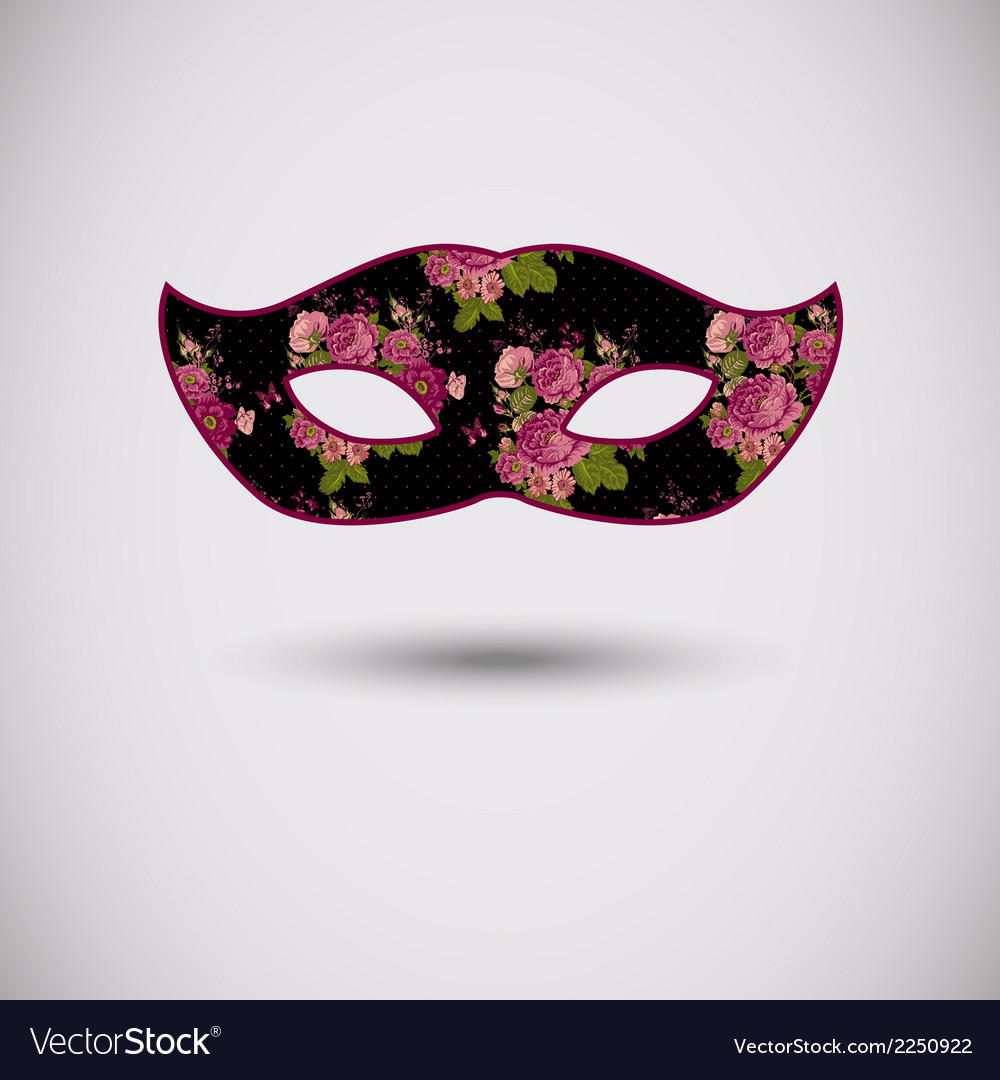 Carnival mask with floral pattern vector | Price: 1 Credit (USD $1)