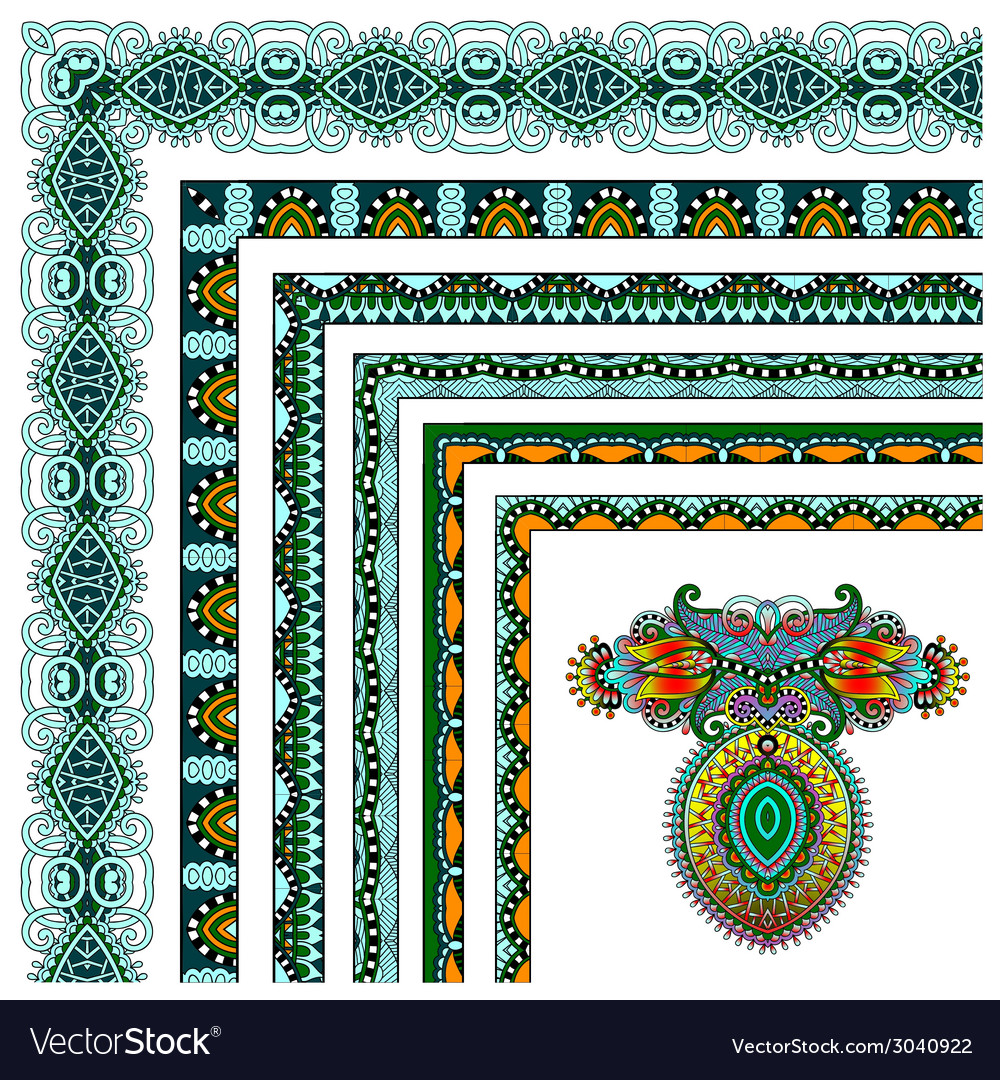 Collection of ornamental floral vintage frame vector | Price: 1 Credit (USD $1)