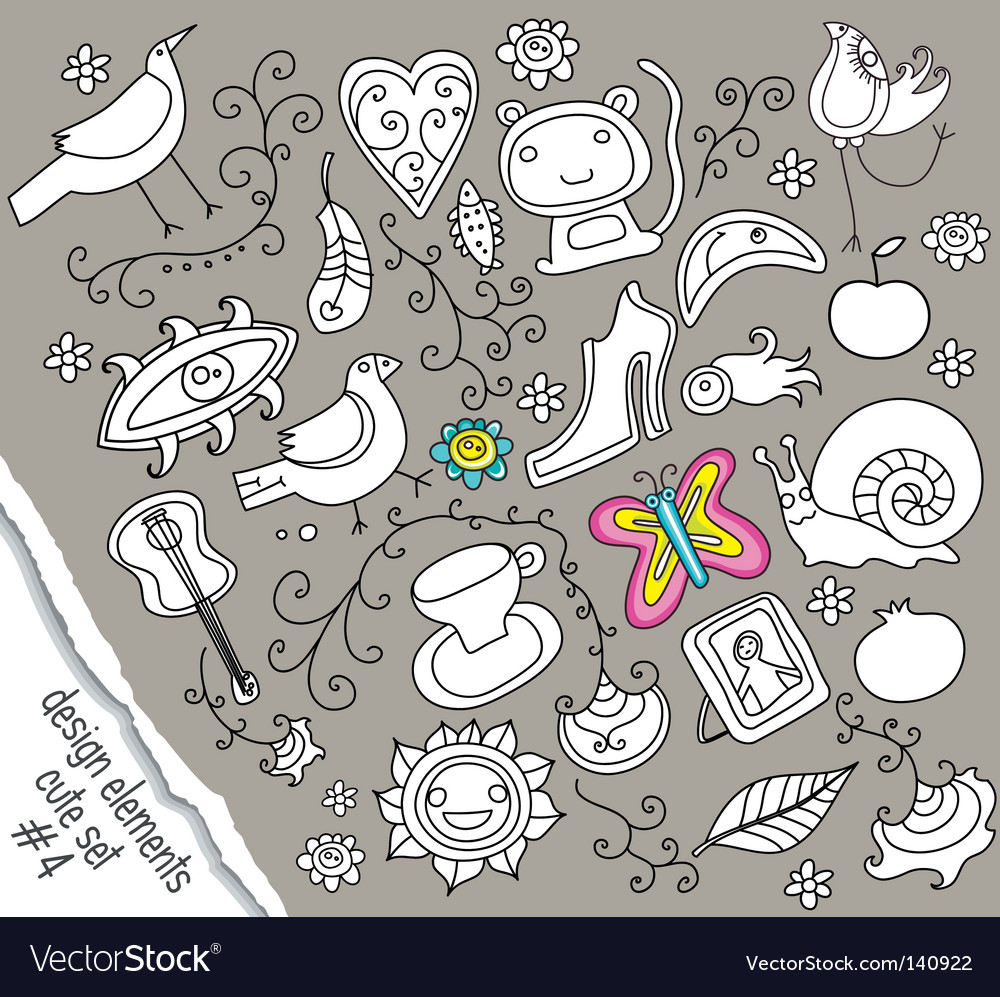 Doodle design elements vector | Price: 1 Credit (USD $1)