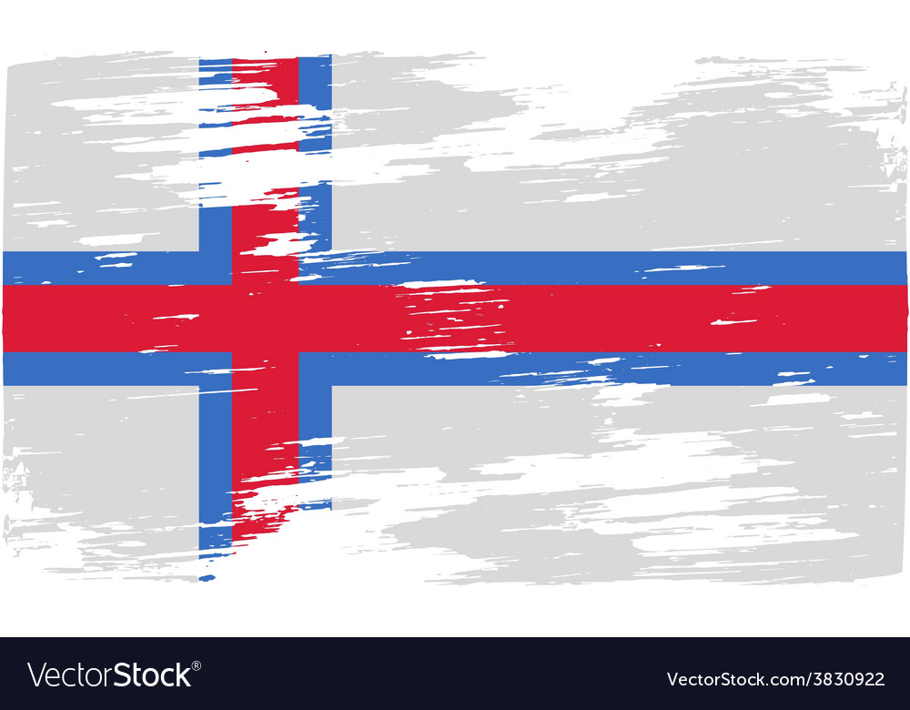 Flag of faroe islands with old texture vector | Price: 1 Credit (USD $1)
