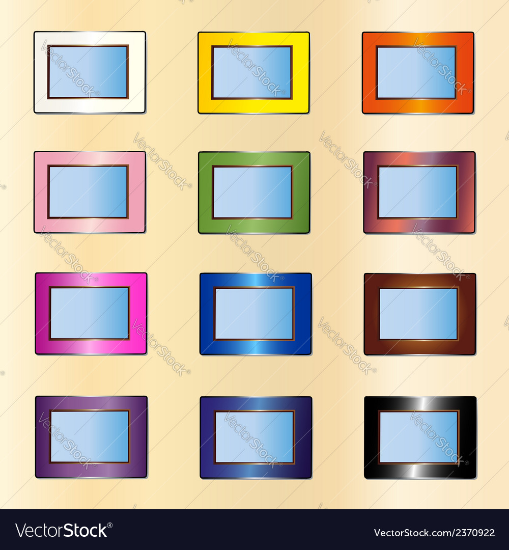 Many photo frames vector | Price: 1 Credit (USD $1)