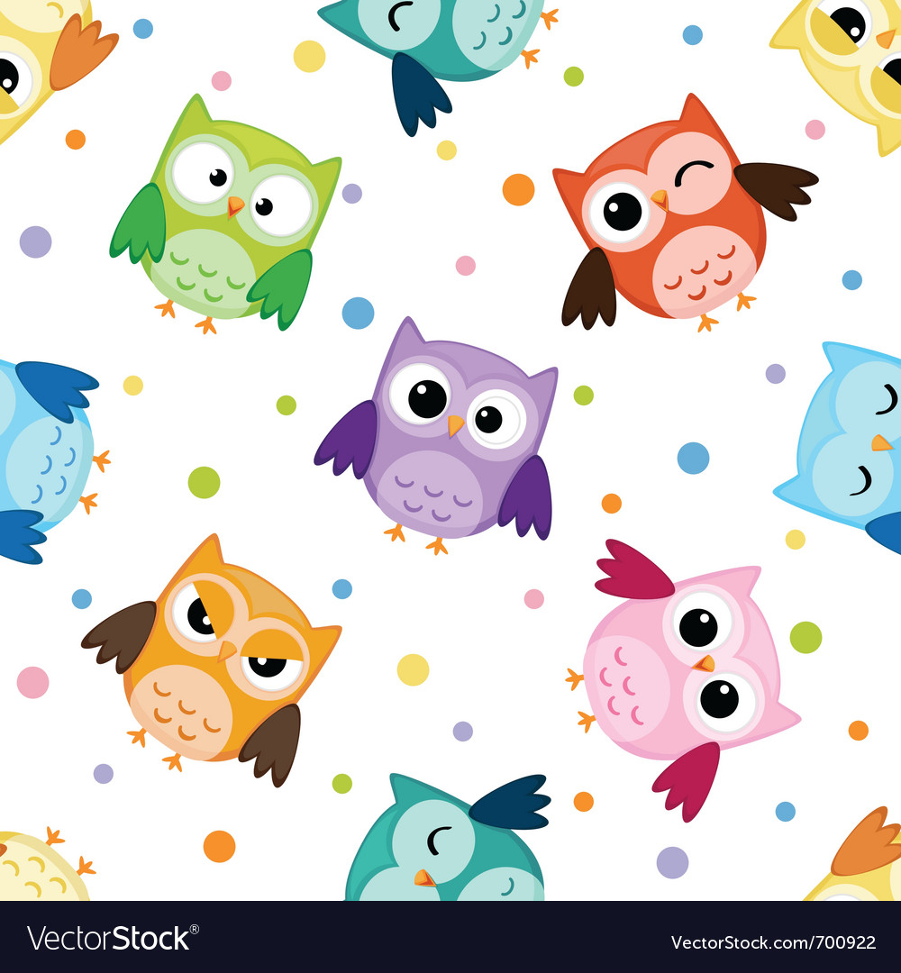 Owls pattern vector | Price: 1 Credit (USD $1)
