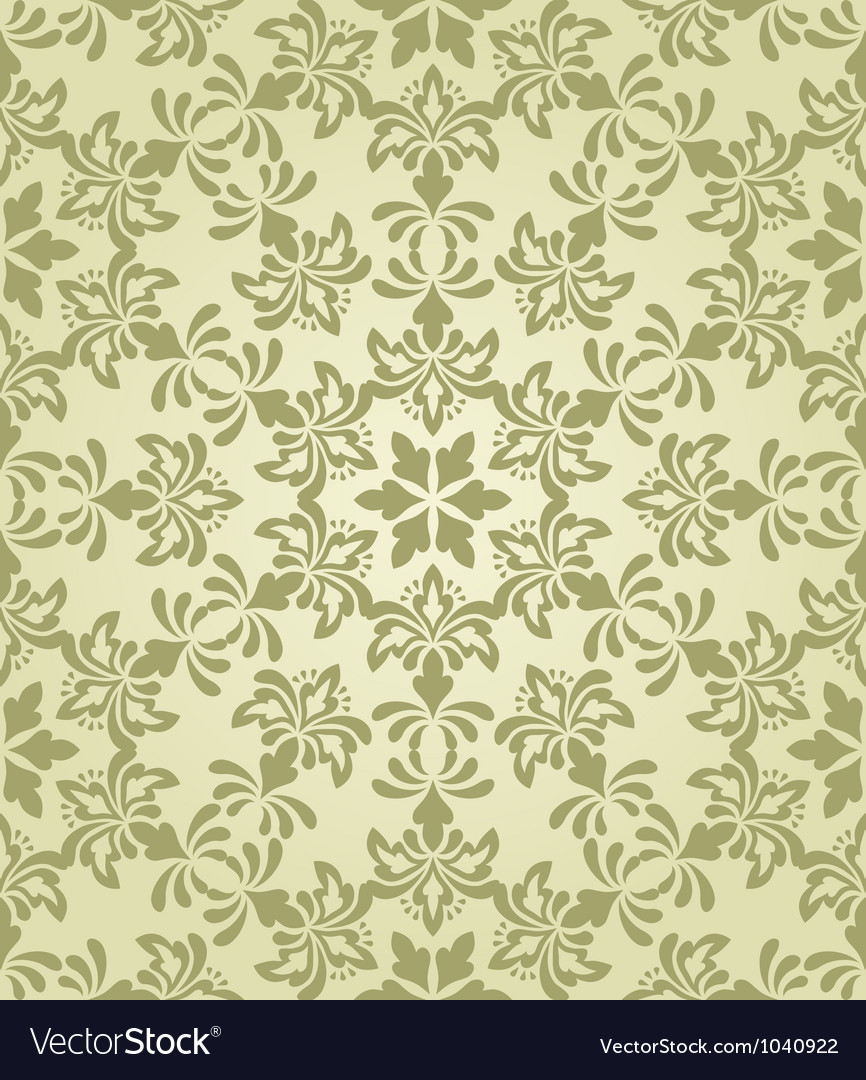 Seamless vintage wallpaper pattern vector | Price: 1 Credit (USD $1)