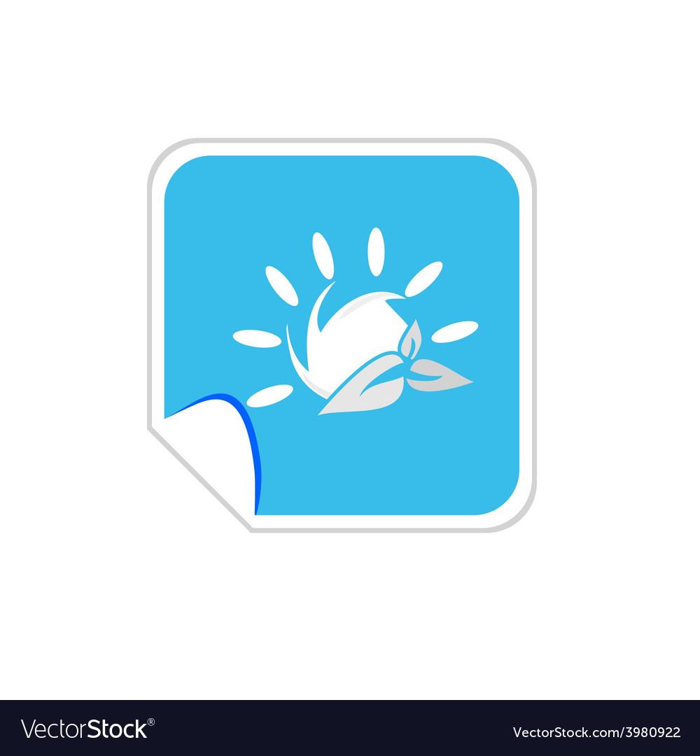 Sun icon blue vector | Price: 1 Credit (USD $1)