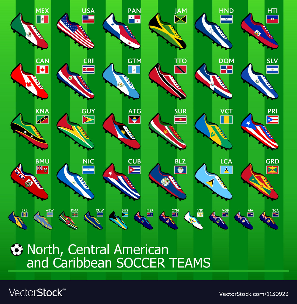 American soccer teams vector | Price: 3 Credit (USD $3)