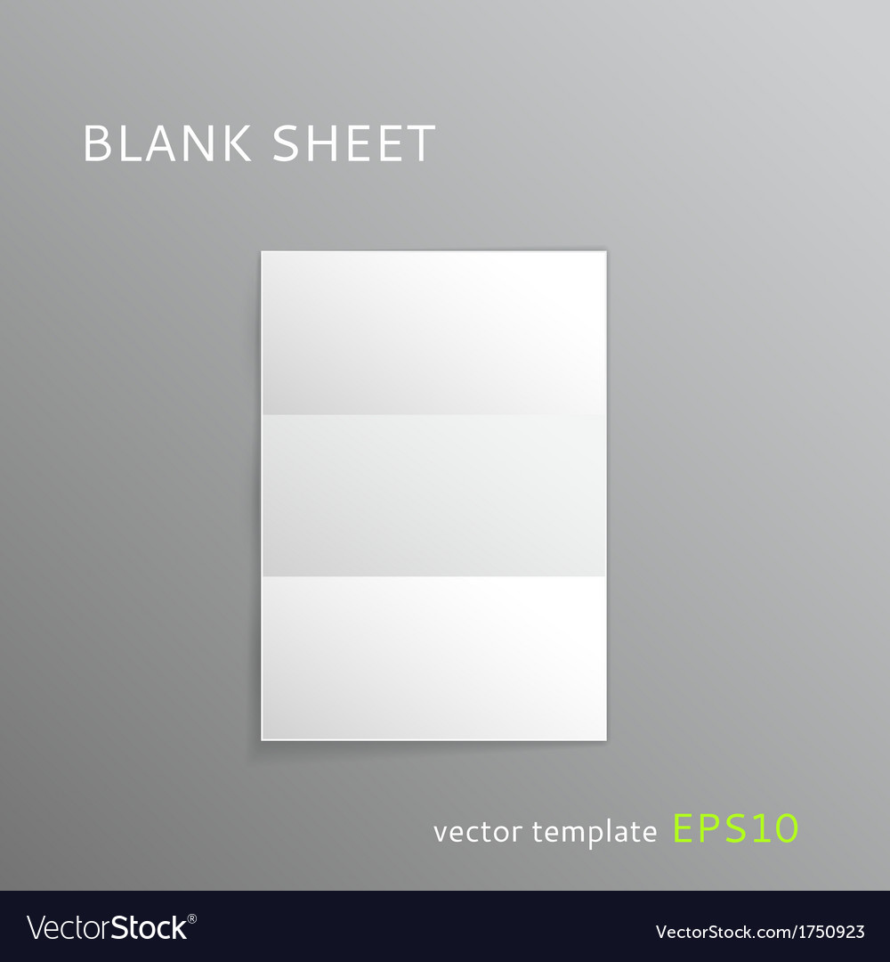 Blank folded paper sheet vector | Price: 1 Credit (USD $1)
