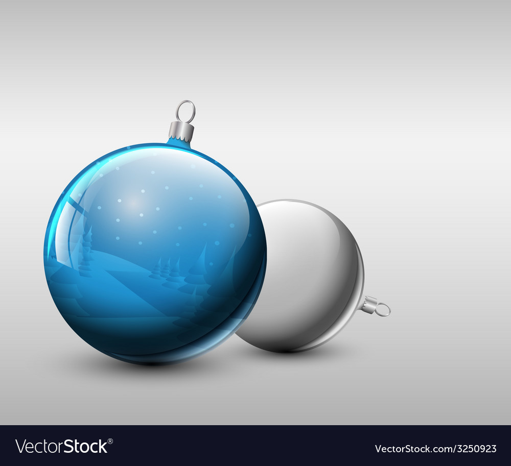 Christmas realistic baubles vector | Price: 1 Credit (USD $1)