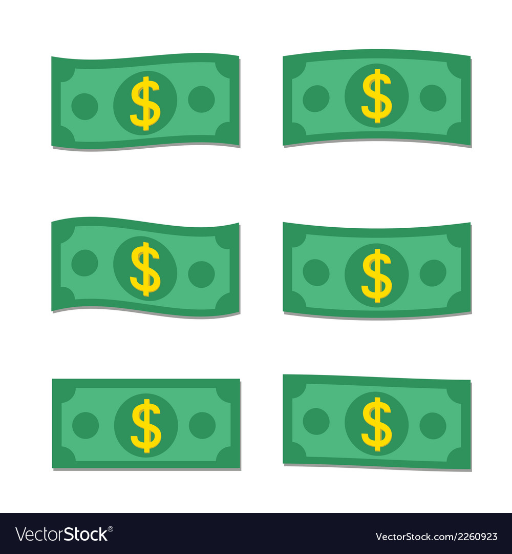 Flat money vector | Price: 1 Credit (USD $1)