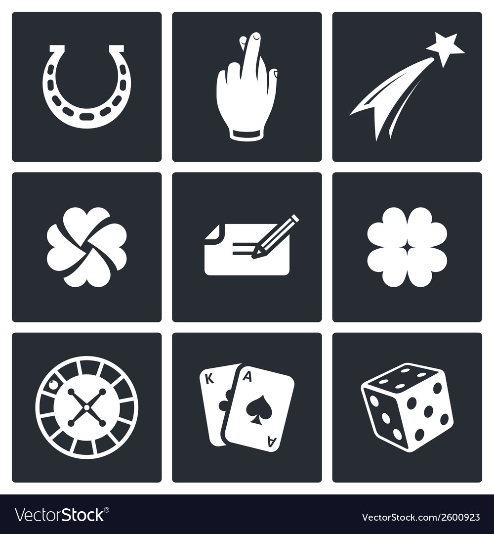 Gambling and fortune icon collection vector | Price: 1 Credit (USD $1)