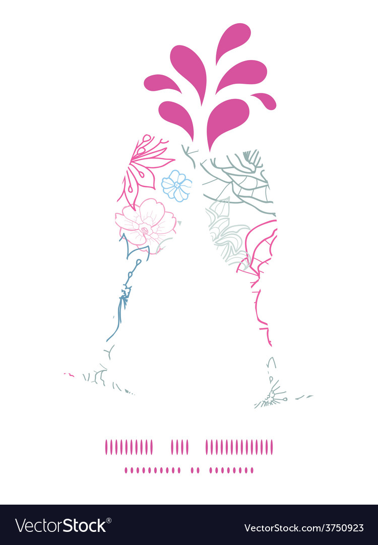 Gray and pink lineart florals toasting wine vector   Price: 1 Credit (USD $1)