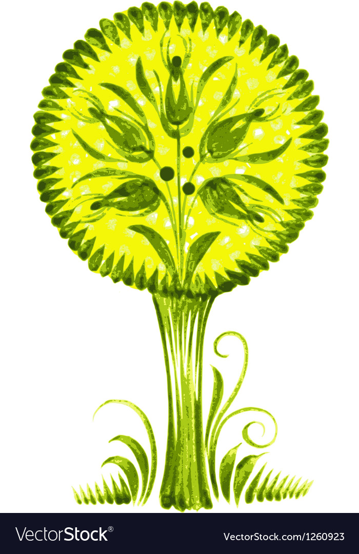 Green flower vector   Price: 1 Credit (USD $1)
