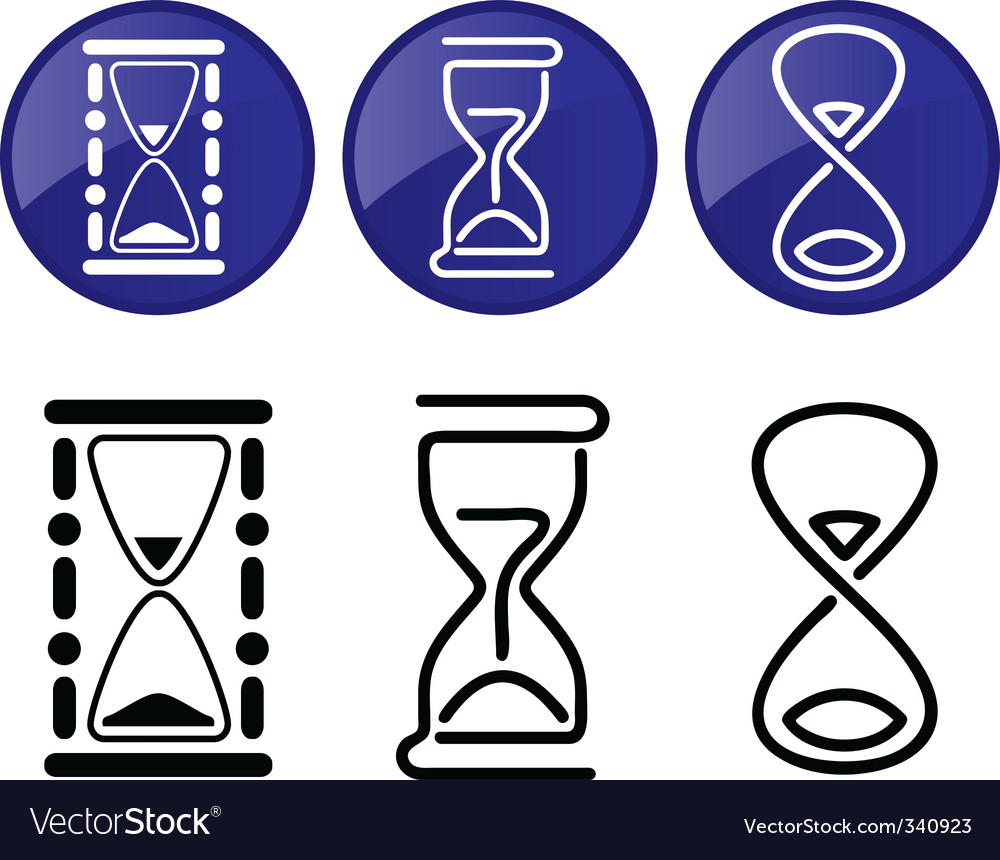 Hourglass  silhouettes vector | Price: 1 Credit (USD $1)