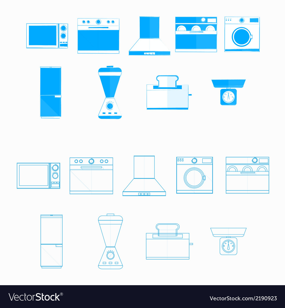 Icons for household equipment vector | Price: 1 Credit (USD $1)