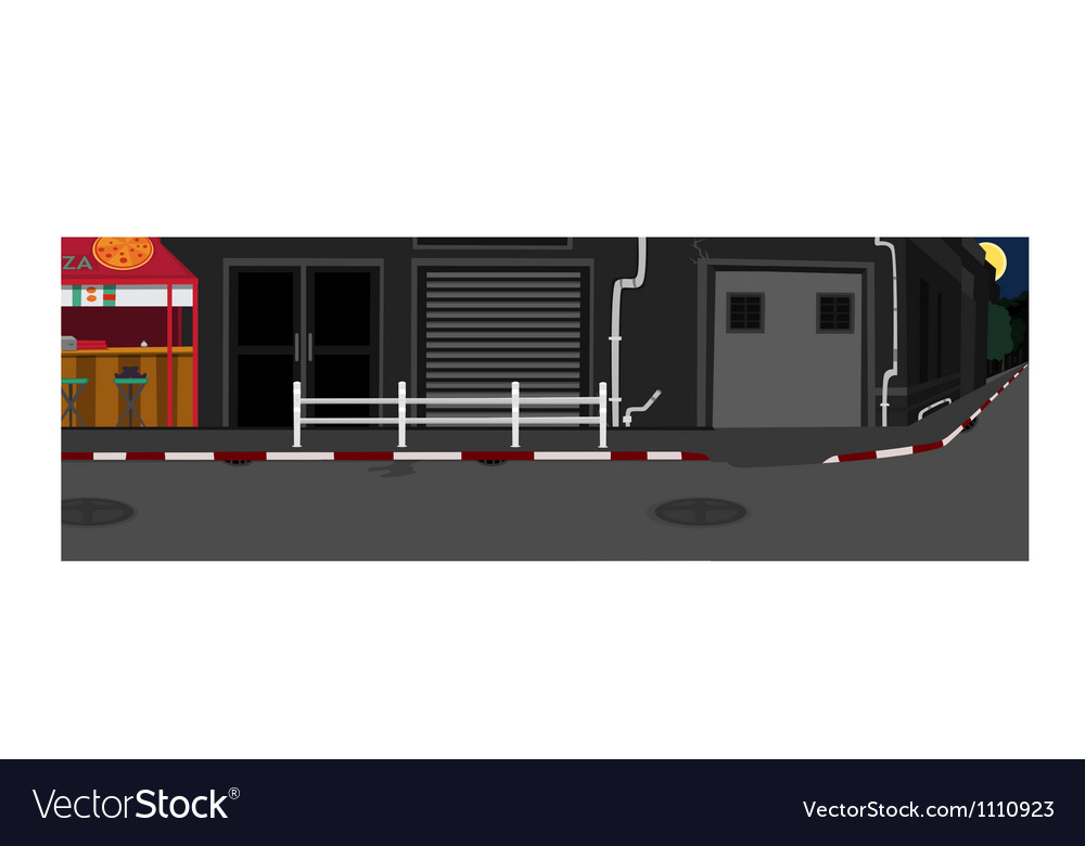 Long street at night vector | Price: 1 Credit (USD $1)