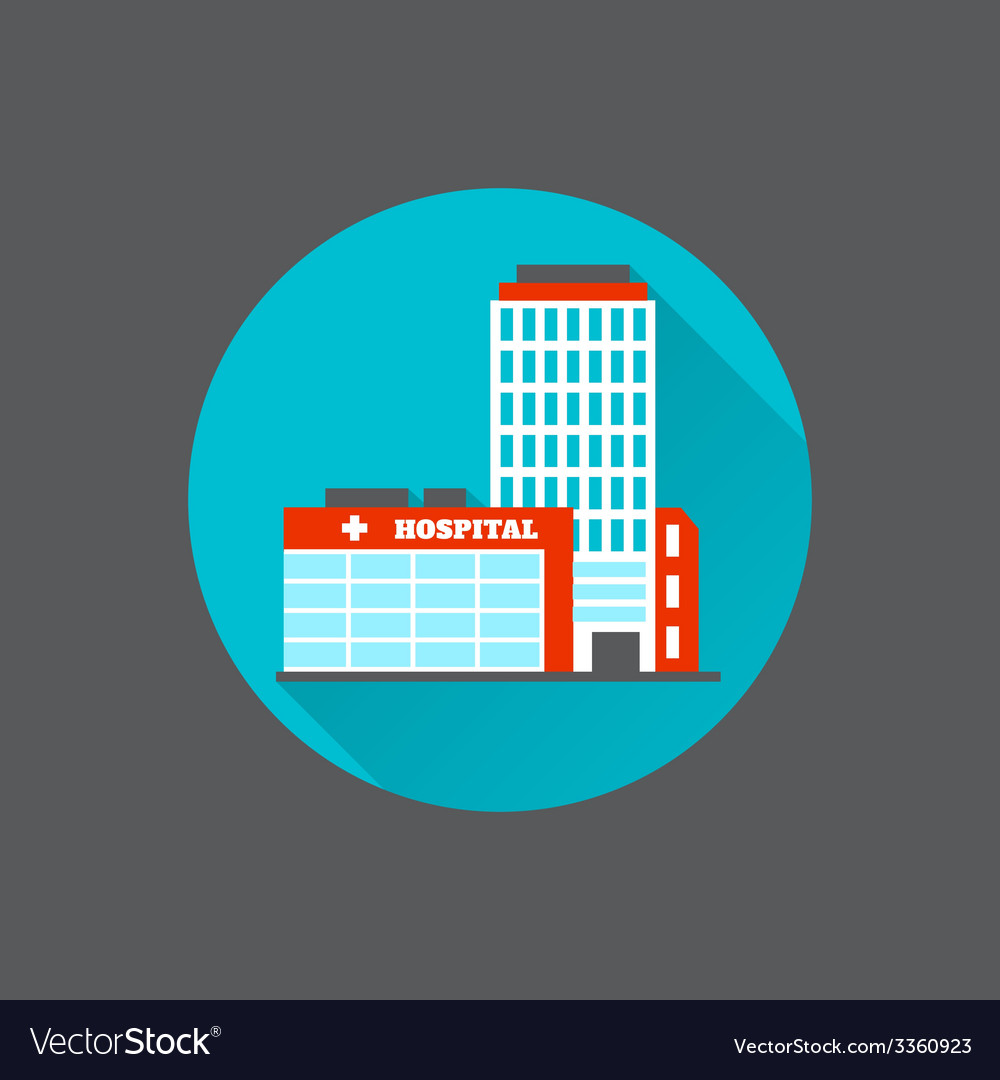 Medical building flat vector | Price: 1 Credit (USD $1)
