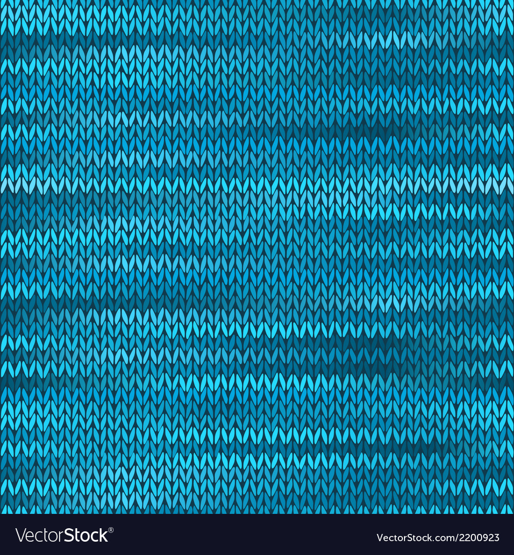 Seamless knitted melange pattern blue turquoise vector | Price: 1 Credit (USD $1)