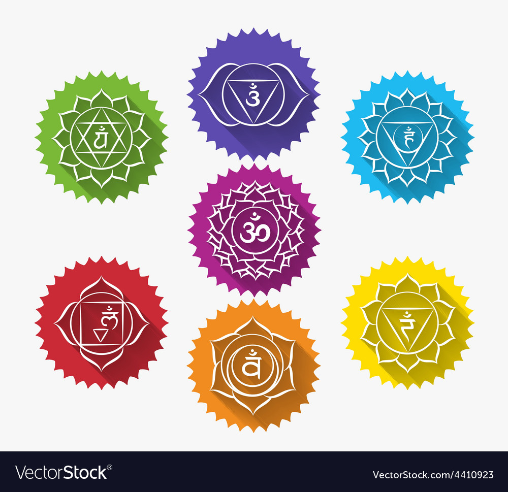 Set of chakras vector | Price: 1 Credit (USD $1)