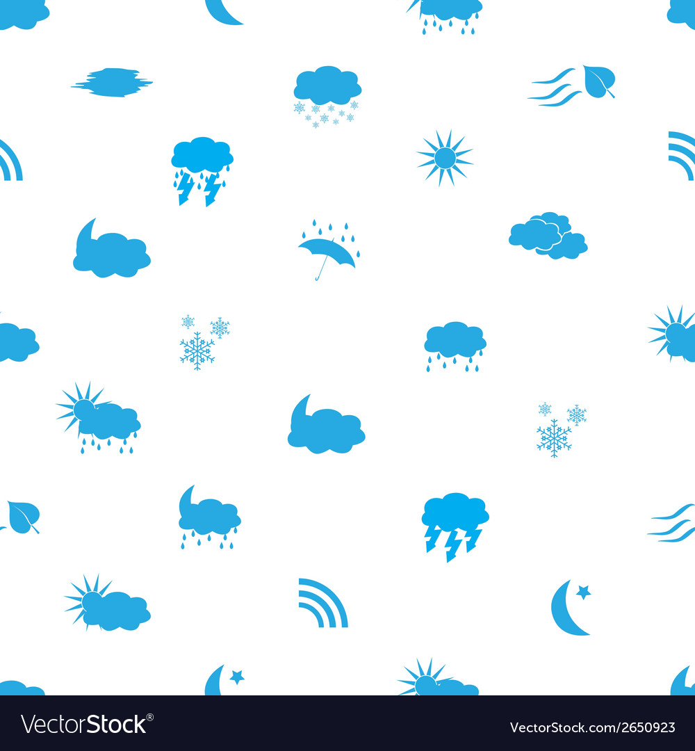 Weather icons pattern eps10 vector | Price: 1 Credit (USD $1)