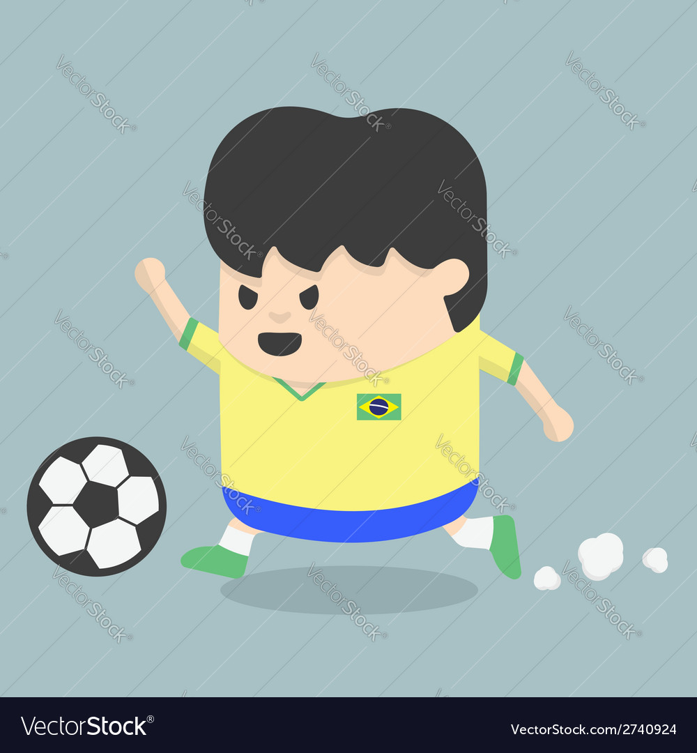 Brazil soccer player vector | Price: 1 Credit (USD $1)
