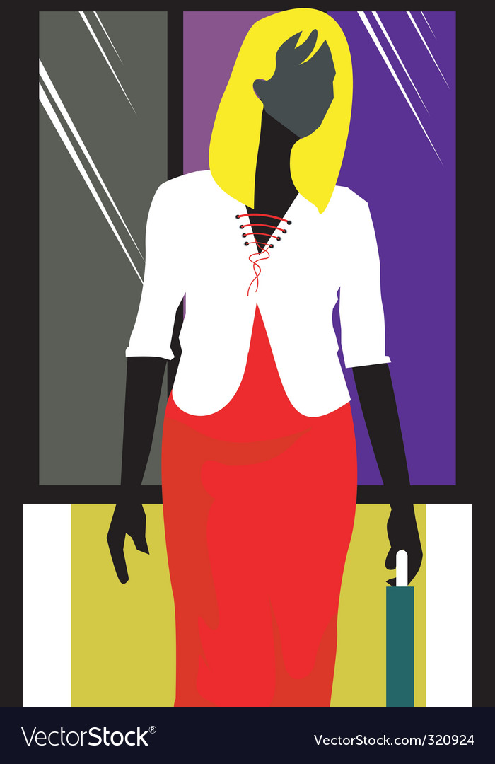 Businesswoman abstract vector | Price: 1 Credit (USD $1)