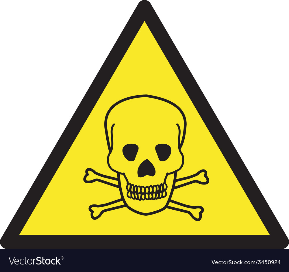 Danger of death safety sign vector | Price: 1 Credit (USD $1)