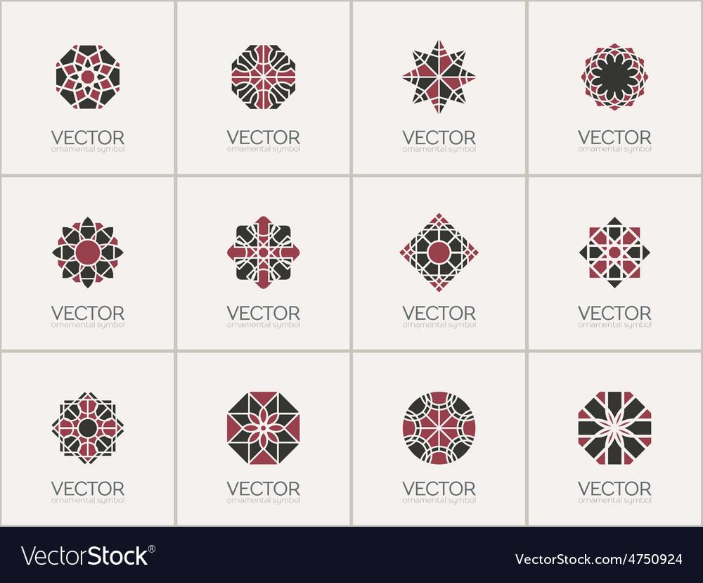 Geometric symbols vector | Price: 1 Credit (USD $1)