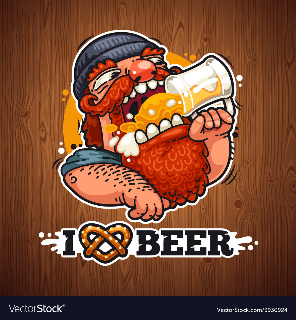 Man loves beer vector | Price: 3 Credit (USD $3)