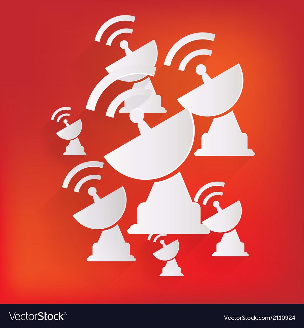 Satellite plate icon vector   Price: 1 Credit (USD $1)
