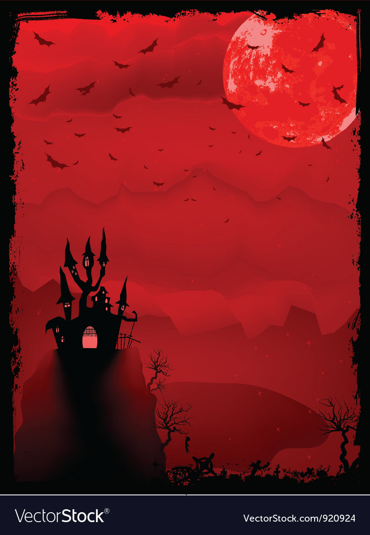 Spooky halloween background vector | Price: 1 Credit (USD $1)