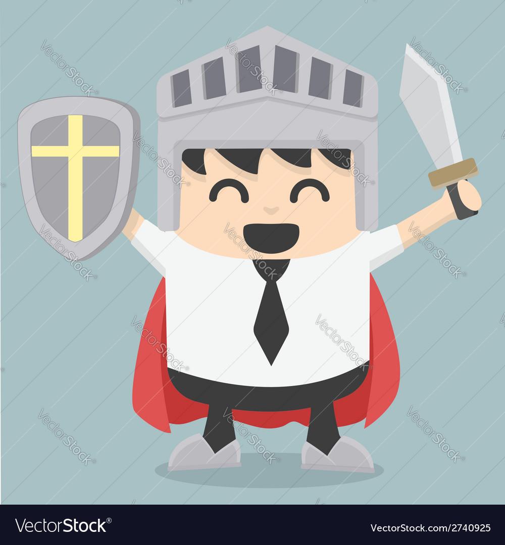 Businessman holding sword vector | Price: 1 Credit (USD $1)