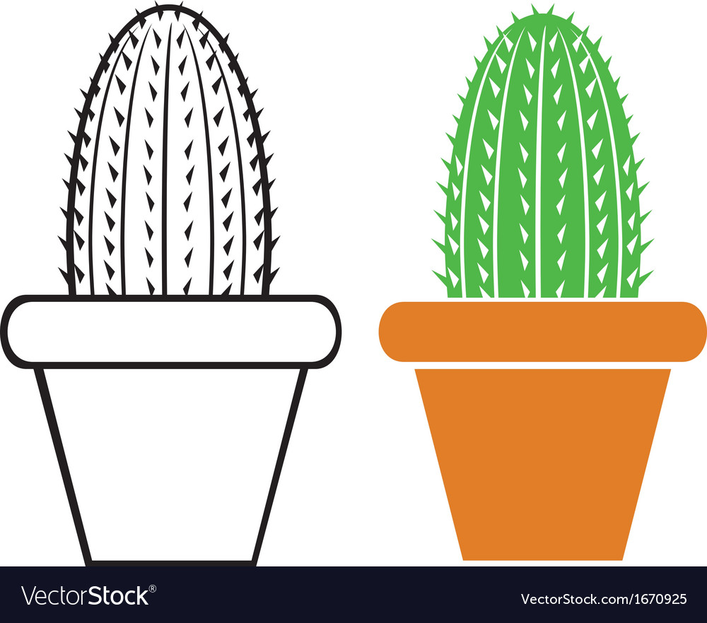 Cactus in a pot vector | Price: 1 Credit (USD $1)