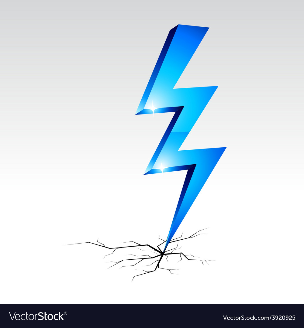 Electricity warning symbol vector | Price: 1 Credit (USD $1)