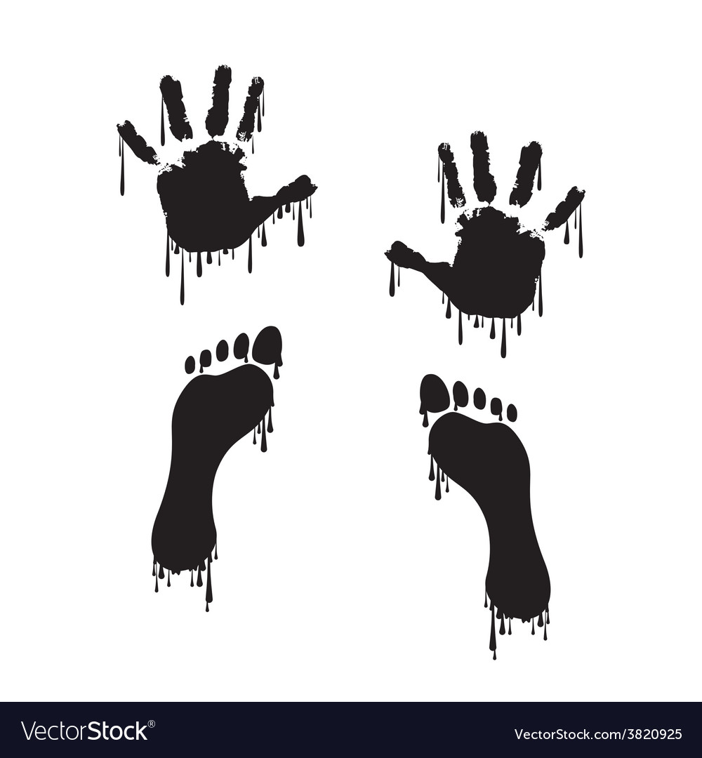 Handprint and footprint vector | Price: 1 Credit (USD $1)