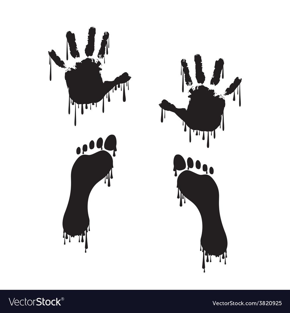 Handprint and footprint vector | Price: 1 Credit (USD $1)